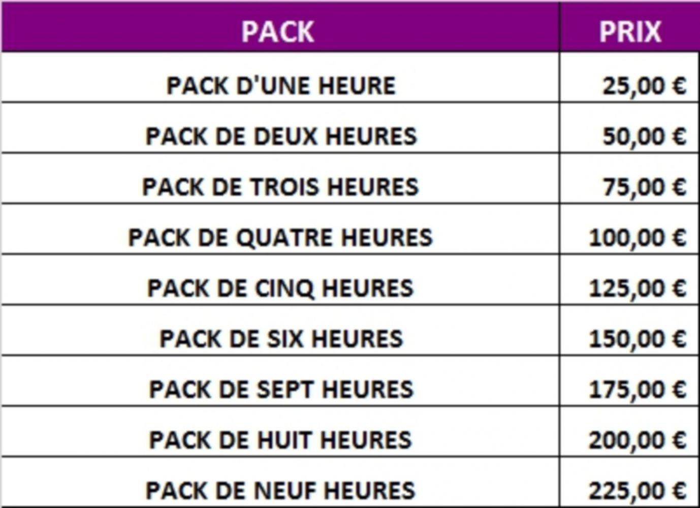 tarif pack à taux réduit