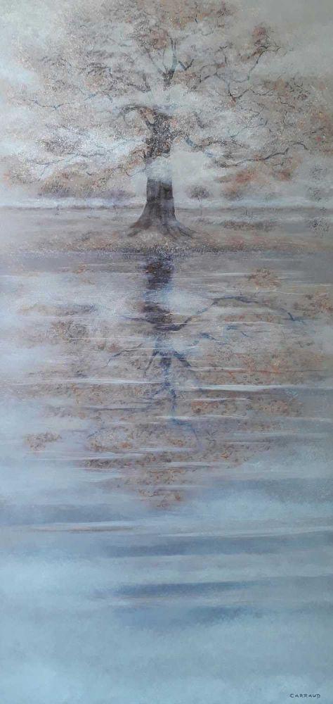 """""""AUTOMNE"""" huile sur toile 100 x 50 cm Martine Carraud"""