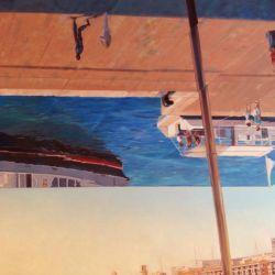 """OMBRIERE"" Marseille huile sur toile 80 x 60 cm Martine Carraud"