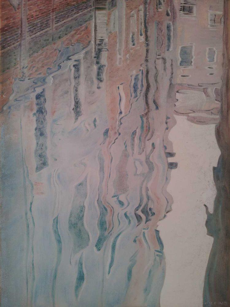 """REFLET"" Venise huile 73 x 60 cm Martine Carraud"