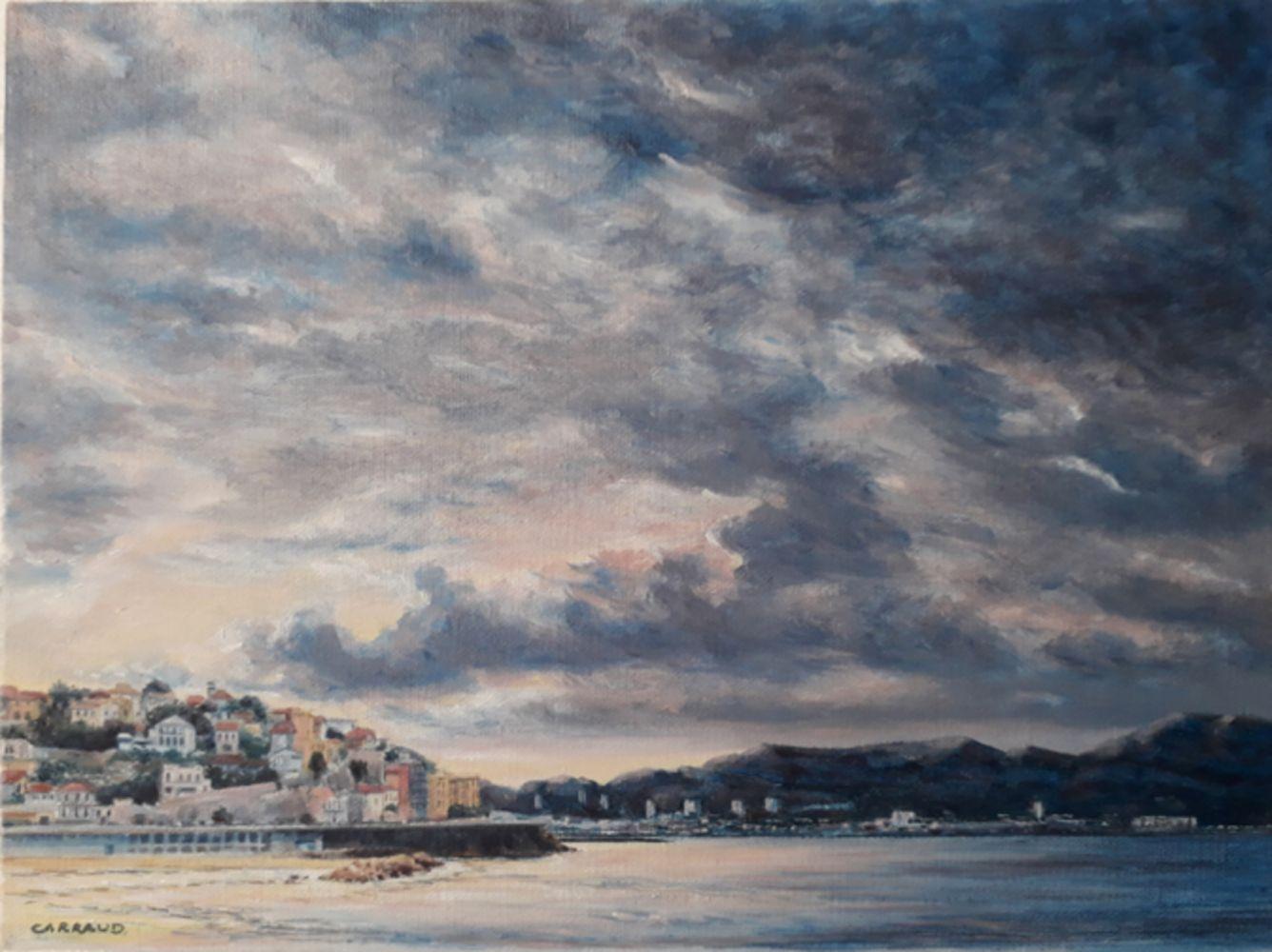 """""""LE PROPHETE"""" Marseille la Corniche huile sur toile 40 x 30 cm Martine Carraud"""
