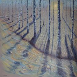 """ETE"" huile sur toile 100 x 100 cm Martine Carraud"
