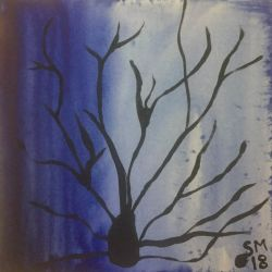 Branches-Acrylics on 10x10 canvas-$50 - Original.